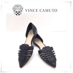 Vince Camuto Hallie d'Orsay Flat Wove Shoes Black